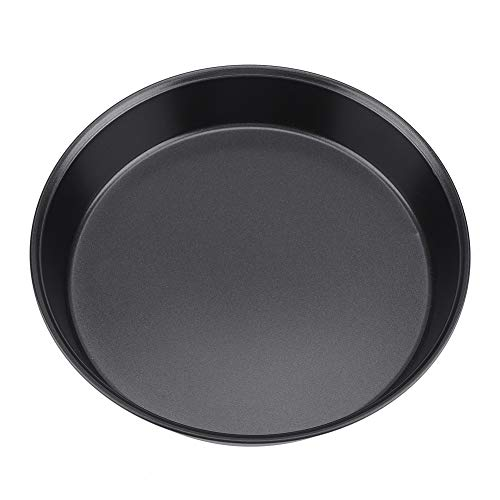 nstoffstahl Antihaft-Runde Pizza Platte Pfanne Kuchen Pie Backblech Form Küche Werkzeug (L, M) (Größe : M) ()