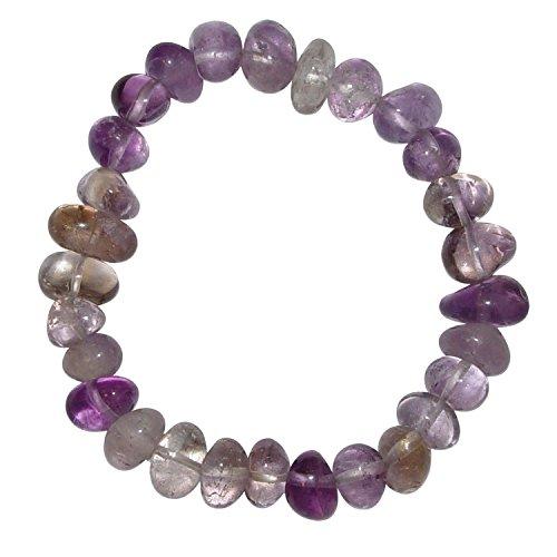 Ametrin Armband schönes Trommelstein Edelstein Armband ein echter Hingucker elastisch aufgezogen.(4014)