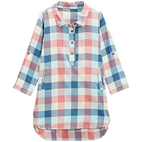 next Niñas Infantes Vestido Estilo Camisero A Cuadros De Algodón Casual Fashion (3 Meses-6 Años)