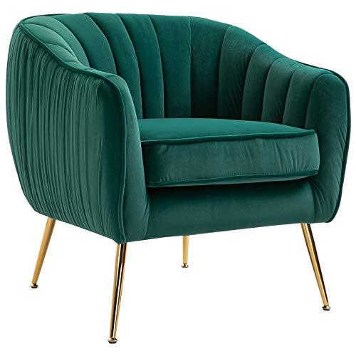 Homcom poltrona da salotto imbottita con braccioli e schienale, design moderno, gambe in metallo (71x72x73 cm) blu