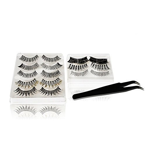 False Eyelash Set With Application Tweezers- Natural Lashes to Long+ Bold Lashes by Lac Beauty Supply