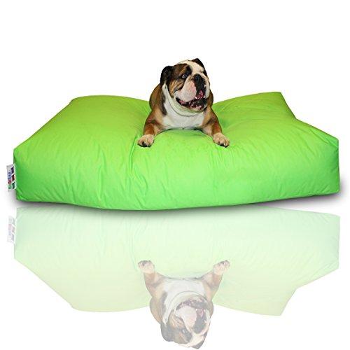 Bild von: BuBiBag Hundekissen Größe 100x60x10 cm aus wasserdichtem Polyester Stoff in 23 Auswahl (kiwigrün)