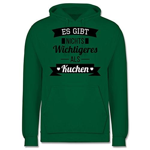 Statement Shirts - Es gibt nichts Wichtigeres als Kuchen - Männer Premium Kapuzenpullover / Hoodie Grün