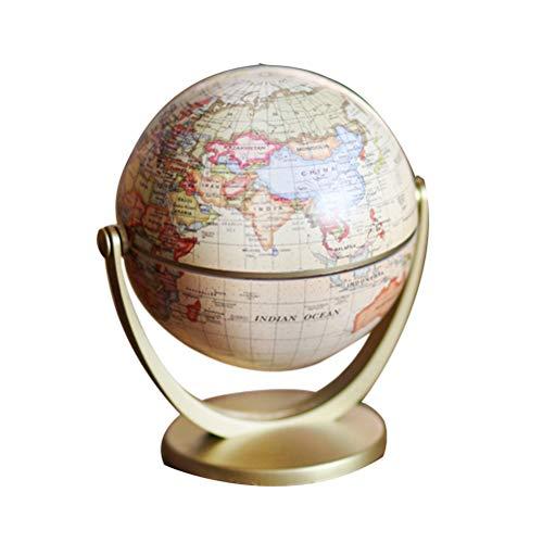 YeahiBaby World Globe Vintage Globus Weltkugel 3D Deutsche Version Pädagogisches Geographisches Lernspielzeug für Kinder Schule Haus Büro Deko (Gelb)