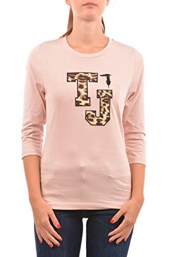T-shirt donna manica lunga rosa trussardi 56t00142-1t001632 autunno/inverno m