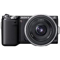 Sony NEX-5NDB Systemkamera (16,1 Megapixel, 7,5 cm (3 Zoll) Display, Live View) inkl. 16mm und 18-55mm Objektiv, schwarz
