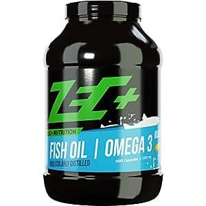 ZEC+ hochdosierte OMEGA-3-Fettsäuren   Fischöl   Fatburner   EPA DHA   höchst-mögliche REINHEIT   1000 Kapseln