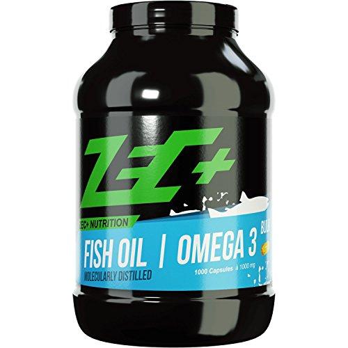 ZEC+ OMEGA-3-Fettsäuren 1000 Kapseln | hochdosierte Fischöl Kapseln | EPA DHA (Omega-3-plus)