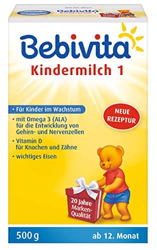 Bebivita Milchnahrung, Kindermilch-mit Omega 3, 4er Pack (4 x 500 g)