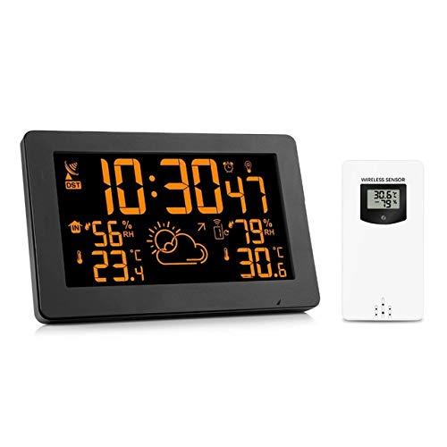 Moligh doll Farb Display Funk Wetterstation, Indoor Au?en Digital Wetter Thermometer Barometer EU Stecker (Doll Display)