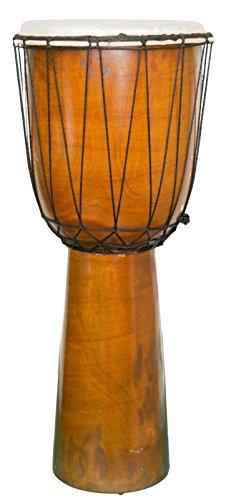 60cm Djembe principianti intagliato a mano in legno di mogano naturale essenziali