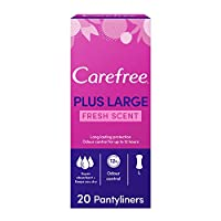CAREFREE Panty Liners, Plus Large, Fresh Scent, Pack of 20