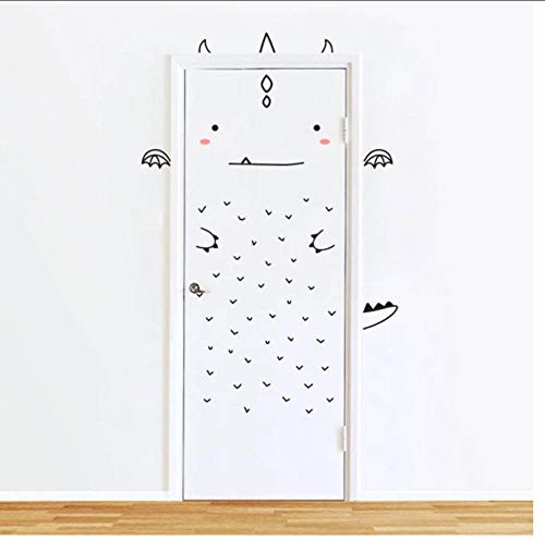 Decoración del hogar Arte de vinilo extraíble animado Decoración de la habitación del hogar Puerta...