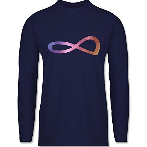 Shirtracer Statement Shirts - Unendlich Forever Regenbogen - Herren Langarmshirt Navy Blau