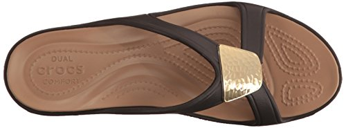 Crocs Sanrah Embellished Wedge W, Infradito Donna Oro (Bronze/Gold)