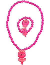 "Angel Glitter ""My Cute Lil Pinky Kitty"" 3-PCS Jewellery Set For Kids"