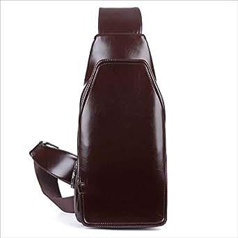 6fb334490ca31 Herren 2 In 1 Tasche Set Herren Woven Brusttasche Die erste Schicht aus  Leder Herren Tasche