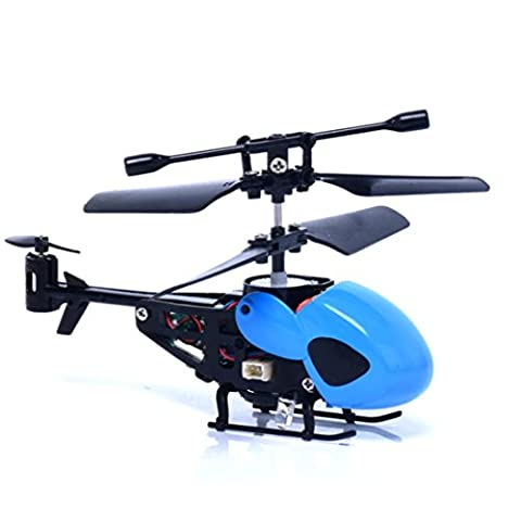 Indexp Radio Remote Mini RC Quadcopter, Lightweight Tough Night Flying Helicopter Micro 2 Channel Aircraft Kids Adults Toy Gift (Blue)