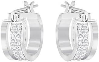 Swarovski elegante aro pendientes perforados, color blanco 5292679
