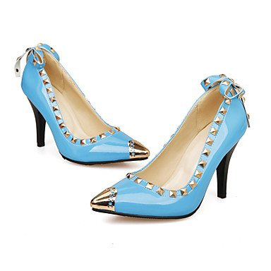 Moda Donna Sandali Sexy donna tacchi Primavera / Estate / Autunno Comfort PU Wedding / Party & Sera / Casual Stiletto Heel Bowknot / rivetto / Slip-onBlack / blu / Red