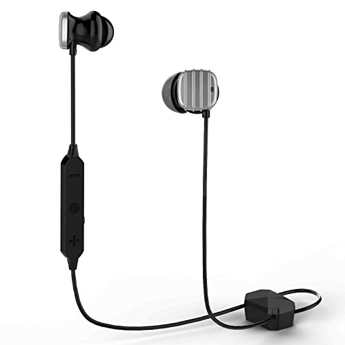 COWIN HE8D Active Noise Cancelling Bluetooth Headphones, Wireless Bluetooth Earbuds In-Ear with Hard Travel Case Sweat-Resistant and aptX Design Built-in Microphone Ear buds-silver - Active Sweat