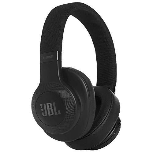 JBL E55BT - Casque circum-auriculaire - Polyvalent et confortable - Écouteurs Bluetooth avec câble détachable - Autonomie jusqu'à 20 hrs - Noir