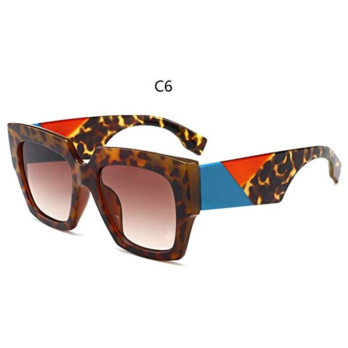 HYUHYU Weißes Quadrat Sonnenbrille Frauen Übergroßen Quadratischen Sonnenbrille Weibliche Designer Marken Großen Dicke Rahmen Trendy Eyewear Uv400
