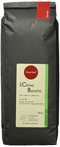 Quertee - China Bancha Grüner Tee Bio - Weich lieblich im Geschmack - Biotee (250 g)