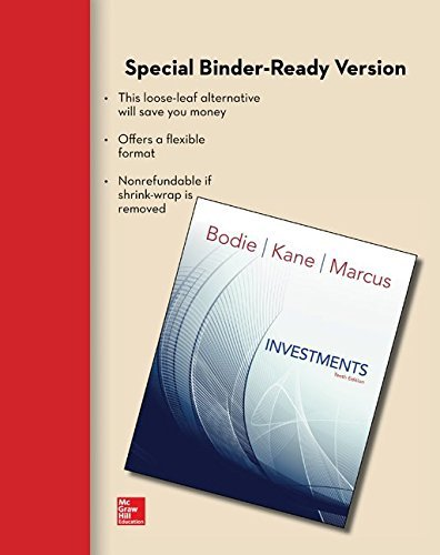 Loose Leaf for Investments by Zvi Bodie (2013-09-10)