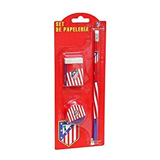 Atlético De Madrid  – Set de lápiz, borrador y sacapuntas de notas  (escritura / estuches)