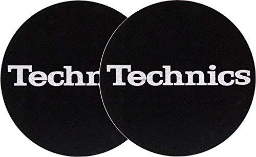 Slipmat della Factory Technics scritte argento Slipmat, 2pezzi