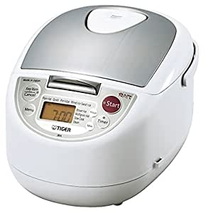 Tiger JBA-T10U 5.5 cups Microcomputer Controlled Rice Cooker- Made in Japan (japan import)