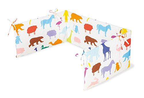 Pinolino 650529-0 - Nestchen für Kinderbetten, 'Happy Zoo'