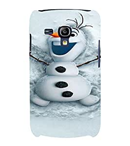 PrintVisa Cute Snowman Design 3D Hard Polycarbonate Designer Back Case Cover for Samsung Galaxy S3 Mini