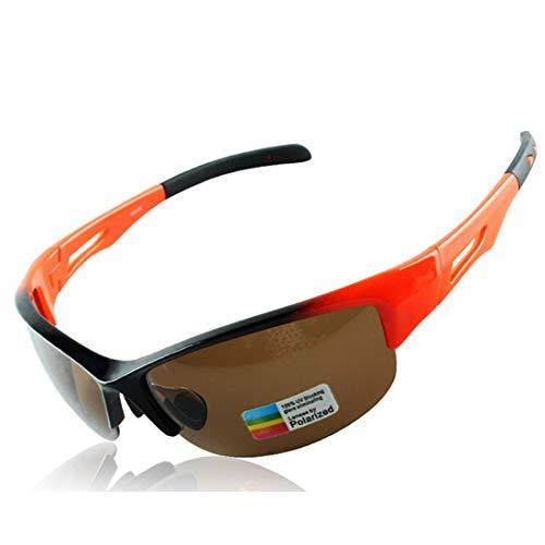 Polarisierte Sonnenbrille mit UV-Schutz Helle orange Farbe Durable Unisex Sport Sonnenbrillen Polarisierte Linse Radfahren Baseball Laufen Angeln Golf Klettern Superleichtes Rahmen-Fischen, das Golf f