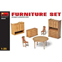 MiniArt 35548 - Set muebles de salón-comedor a escala 1:35