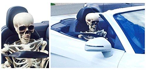 Beifahrer Puppe Halloween AUTO Skelett 160cm groß