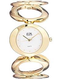 Clips 553-4009-12 - Reloj de pulsera mujer, aleación, color dorado