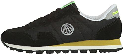 Paperplanes - 1318 Casual mixte pour la mode faible de cours'à pied et baskets Noir - Noir/gris