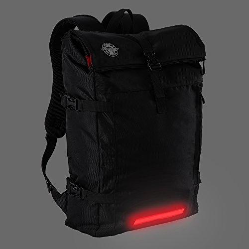 Aquabourne Eos Pendler und Bike-Rucksack mit integriertem LED-Licht. Eine ausgezeichnete wasserdicht Mountain bike und outdoor Sporttasche. (Schwarz) Schwarz