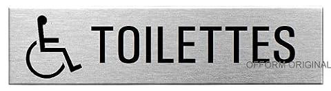 Pictogramme Toilettes - OFFORM Plaque de porte en acier inox