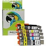 XXL cartuchos de tinta sustituie Canon PGI-550 & CLI-551 | para Canon Pixma MG 5600 Series, MG 5650, Canon Pixma IP7250, Canon Pixma MX925 | negro, cian, magenta, amarillo, foto negro