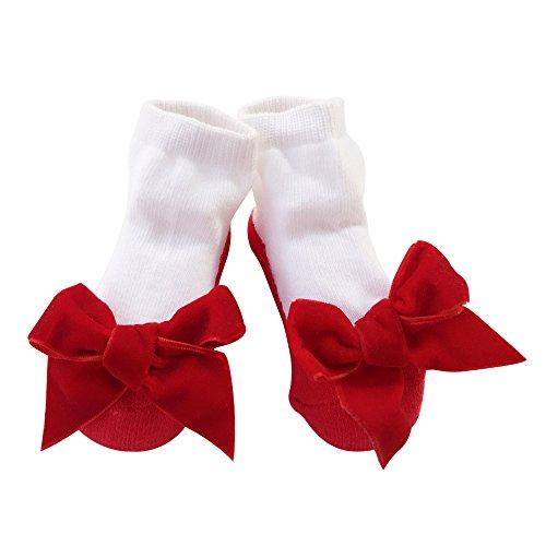 Baby Socken Mädchen Neugeborene Säugling Sock Kleinkind Fuß Wear 1 Jahr alt (0-12 Monate, hong-rong) (Crew Mikrofaser-crew-socken)