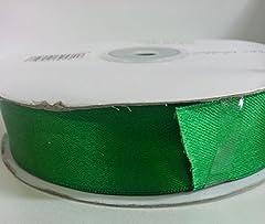 Idea Regalo - Rotolo bobina nastro da 25mm x 50 metri ,doppio raso x segnaposto, bomboniera, sacchettino, confetti (ckr25) (Verde Smeraldo)