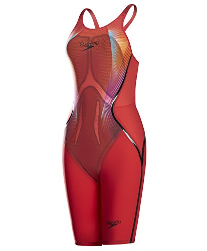 Kostüm Lava Mann - Speedo Damen LZR Racer X Opbk Kskn Af Frau Badeanzug, Lava Red/Black/Electric Pink, 24