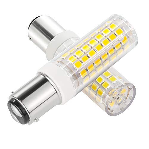 B15d LED Birne 6 Watts LED Glühbirne 88SMD LEDs Nicht Dimmbar - Double Connect Bajonett 360° Lichtwinkel 690 Lumen Warm Weiß 3000K- Ersatz für 70W Halogenlampen(2er Pack) -