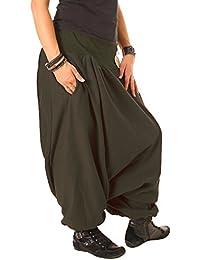 Vishes – alternative Bekleidung Haremshose aus Fleece Einheitsgröße/Lange Größe 40 – 48