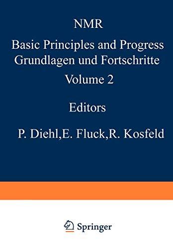 NMR-Untersuchungen an Komplexverbindungen (NMR Basic Principles and Progress) (German Edition)