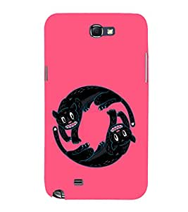 EPICCASE Yin-Yang Cats Mobile Back Case Cover For Samsung Galaxy Note 2 (Designer Case)