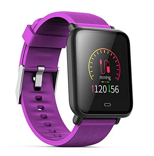 Love Life Fitness Smart Watch, GPS Outdoor Sport Tracker IP7 Wasserdichte Pulsmessung, Anruferinnerung, mehrere Sportmodi, kompatibel mit iPhone und Android-Handys,Purple